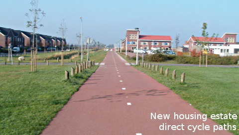 New housing estate - excellent cycle paths